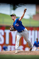 Iowa Cubs relief pitcher Zac Rosscup (16) delivers a pitch during a game against the Memphis Redbirds on May 29, 2017 at AutoZone Park in Memphis, Tennessee.  Memphis defeated Iowa 6-5.  (Mike Janes/Four Seam Images)