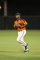 AZL Giants relief pitcher Franklin Van Gurp (55) jogs to the mound during the game against the AZL Reds on August 12, 2017 at Scottsdale Stadium in Scottsdale, Arizona. AZL Giants defeated the AZL Reds 1-0. (Zachary Lucy/Four Seam Images)