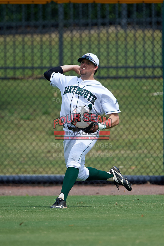 Dartmouth Big Green center fielder Nick Ruppert (1) during a game against the South Florida Bulls on March 27, 2016 at USF Baseball Stadium in Tampa, Florida.  South Florida defeated Dartmouth 4-0.  (Mike Janes/Four Seam Images)