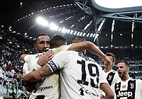Calcio, Serie A: Juventus - Genoa, Turin, Allianz Stadium, October 20, 2018.<br /> Juventus' Cristiano Ronaldo celebrates after scoring with his teammates during the Italian Serie A football match between Juventus and Genoa at Torino's Allianz stadium, October 20, 2018.<br /> UPDATE IMAGES PRESS/Isabella Bonotto