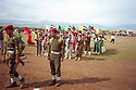 Iraq 1993.Welcome in Zakho for people coming for the anniversary of KDP party.Irak 1993.Accueil a Zakho des visiteurs venant de l'etranger pour l'anniversaire du PDK