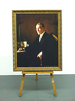 """Digital Reproduction of Thomas Woodrow Wilson (1856-1924), 28th US President. 1921.  This is a Digital Reproduction in LA, CA Framed Size: 52 1/4"""" x 42 1/2"""" Stretcher Size 46"""" x 36 1/4""""  <br /> <br />  Original Image Information: Reproduction of Edmund Charles Tarbell (1862-1938) Thomas Woodrow Wilson (1856-1924), 28th US President. 1921. Oil on canvas, 46 x 36 1/4 in. <br />  Stretcher Size 46"""" x 36 1/4"""" in"""