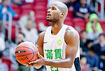 Austin Bryant M #23 of Tycoon Basketball Team concentrates prior to a free throw during the Hong Kong Basketball League game between Tycoon vs Eagle at Southorn Stadium on May 11, 2018 in Hong Kong. Photo by Yu Chun Christopher Wong / Power Sport Images