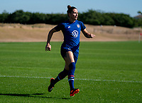 ORLANDO, FL - JANUARY 20: Ali Krieger #11 of the USWNT sprints during a training session at the practice fields on January 20, 2021 in Orlando, Florida.