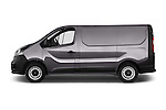Driver Side Profile View of 2015 Opel Vivaro Edition 4 Door Cargo Van 2WD Stock Photo