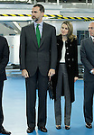 Prince Felipe of Spain and Princess Letizia of Spain during the inauguration of new industrial laundry center for special workers INDESA 2010.March 5,2013. (ALTERPHOTOS/Acero)
