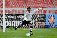 Los Angeles Sol goalkeeper Karina LeBlanc (23). Sky Blue FC and the Los Angeles Sol played to a 0-0 tie during a Women's Professional Soccer match at Yurcak Field in Piscataway, NJ, on June 13, 2009.