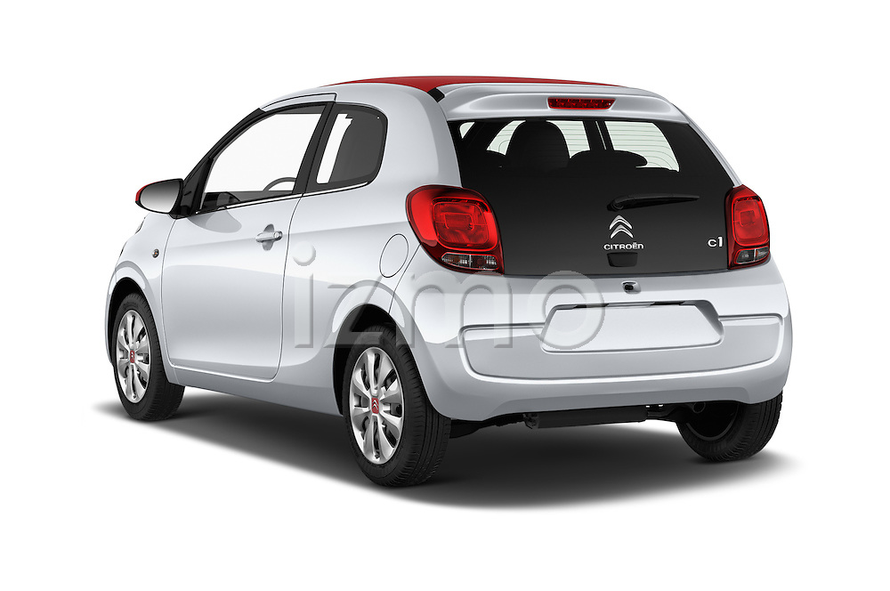 Car pictures of rear three quarter view of 2015 Citroen C1 Airscape-Feel-Edition 3 Door Micro Car Angular Rear