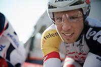 3 Days of De Panne.stage 3b: De Panne-De Panne TT..Jonas Van Genechten (BEL) warming up for the TT..