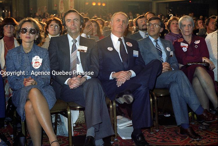 Claude Ryan<br />  lors du 21ieme congres du Parti Liberal du Quebec<br /> (date exacte inconnue).<br /> <br /> PHOTO : <br />  - Agence Quebec Presse<br /> <br /> NOTE : Les ajustements finaux, recadrage et retouche des poussieres seont effectuées sur les images commandées.