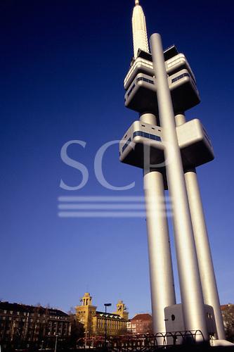Prague, Czech Republic. Television tower.