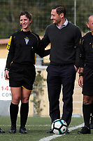 Francesco Totti con l'arbitro donna che ha arbitrato la partita<br /> Francesco Totti with the woman referee that will arbitrate the match<br /> Roma 23/12/2017. Totti Soccer School. Partita contro la violenza sulle donne in memoria di Sara di Pietrantonio.<br /> Rome November 23rd 2017. Totti Soccer School. Friendly soccer match fight violence against women.<br /> Foto Samantha Zucchi Insidefoto