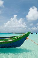 Boat bow scenic, Achutupu, Comarca De Kuna Yala, San Blas Islands, Panama