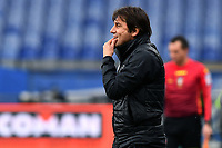 Antonio Conte coach of FC Internazionale reacts during the Serie A football match between UC Sampdoria and FC Internazionale at stadio Marassi in Genova (Italy), January 6th, 2021. <br /> Photo Daniele Buffa/Image Sport / Insidefoto