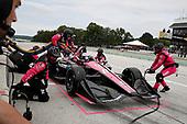 Jack Harvey, Meyer Shank Racing with Arrow SP Honda, pit stop