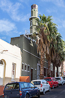 South Africa.  Cape Town, Bo-kaap.  Al-Awwal (Auwal)  Mosque, the first mosque in Cape Town.  Dorp Street.