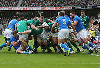 Saturday 10th February 2018 | Ireland vs Italy<br /> <br /> Rory Best drives for the line during the Six Nations Rugby Championship match between Ireland and Italy at the Aviva Stadium, Lansdowne Road,  Dublin Ireland. Photo by John Dickson / DICKSONDIGITAL