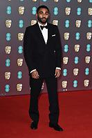 Anthony Welsh<br /> arriving for the BAFTA Film Awards 2020 at the Royal Albert Hall, London.<br /> <br /> ©Ash Knotek  D3554 02/02/2020
