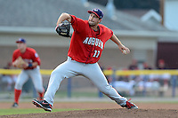 Auburn Doubledays pitcher Robert Orlan (11) during a game against the Batavia Muckdogs on August 27, 2013 at Dwyer Stadium in Batavia, New York.  Batavia defeated Auburn 9-3.  (Mike Janes/Four Seam Images)