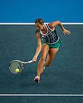 Monica Puig of Puerto Rico vs Samantha Stosur of Australia during the WTA Prudential Hong Kong Tennis Open at the Victoria Pack Stadium on 14 October 2015 in Hong Kong, China. Photo by Aitor Alcalde / Power Sport Images