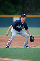 GCL Braves third baseman Cade Bunnell (25) during a Gulf Coast League game against the GCL Pirates on July 30, 2019 at Pirate City in Bradenton, Florida.  GCL Braves defeated the GCL Pirates 10-4.  (Mike Janes/Four Seam Images)