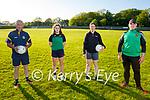 Churchill juvenile ladies doing their training with their coaches in Churchill on Friday. L to r: John McKenna (Coach), Lana Gaudino, Muireann O'Brien and Sean Parker (Coach).