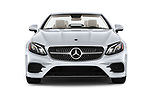 Car photography straight front view of a 2018 Mercedes Benz E Class E400 2 Door Convertible