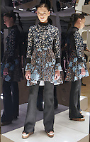 Model in Look 3: Bohemian Rhapsody Dress, Black Sweater Knit Pant