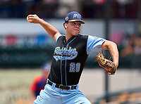 Rockledge Raiders pitcher Karl Hartman (28) during the 42nd Annual FACA All-Star Baseball Classic on June 6, 2021 at Joker Marchant Stadium in Lakeland, Florida.  (Mike Janes/Four Seam Images)