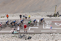 group with green jersey Mark Cavendish (GBR/Deceuninck-Quick Step) up the famed Mont Ventoux <br /> <br /> Stage 11 from Sorgues to Malaucène (198.9km)<br /> 108th Tour de France 2021 (2.UWT)<br /> <br /> ©kramon