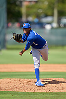Toronto Blue Jays pitcher Wilgenis Alvarado (36) during an Extended Spring Training game against the Philadelphia Phillies on June 12, 2021 at the Carpenter Complex in Clearwater, Florida. (Mike Janes/Four Seam Images)