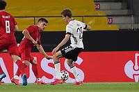 Thomas Mueller (Deutschland Germany) gegen Andreas Christensen (Dänemark, Denmark) - Innsbruck 02.06.2021: Deutschland vs. Daenemark, Tivoli Stadion Innsbruck