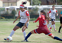 CHIA - COLOMBIA, 29 -10-2020: Fortaleza CEIF e Independiente Santa Fe por la fecha 4 de Liga Femenina BetPlay DIMAYOR 2020 jugado en el estadio de la Villa Olímpica en Chía. / Aspect of the match between Fortaleza CEIF and Independiente Santa Fe in match for the date 4 of the Women's League BetPlay DIMAYOR 2020 played at Villa Olimpica stadium in  Chia. Photo: VizzorImage / Samuel Norato / Cont