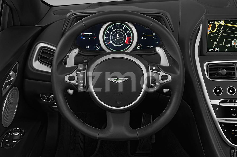 Steering wheel view of a 2019 Aston Martin DB11-Volante - 2 Door Convertible Steering Wheel