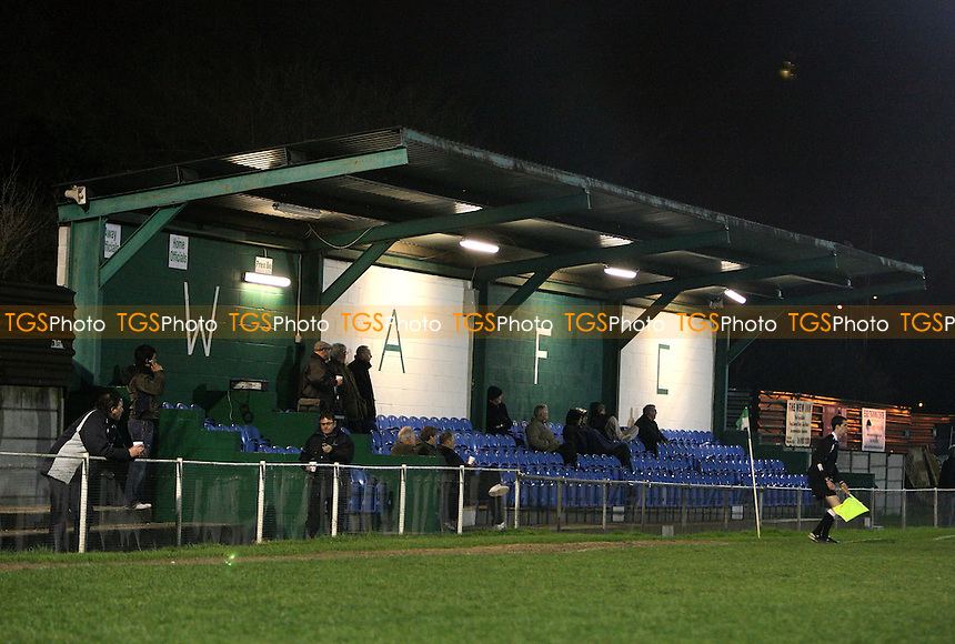 The main stand at Capershotts, home of Waltham Abbey Football Club - Waltham Abbey vs Aveley - Ryman League Division One North at Capershotts - 24/03/09 - MANDATORY CREDIT: Gavin Ellis/TGSPHOTO - Self billing applies where appropriate - 0845 094 6026 - contact@tgsphoto.co.uk - NO UNPAID USE.