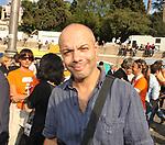 """DIEGO BIANCHI """"ZORO""""<br /> MANIFESTAZIONE PER LA LIBERTA' DI STAMPA PROMOSSA DAL FNSI<br /> PIAZZA DEL POPOLO ROMA 2009"""