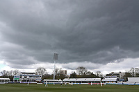 General view of the action under darkening skies during Essex CCC vs Durham CCC, LV Insurance County Championship Group 1 Cricket at The Cloudfm County Ground on 15th April 2021