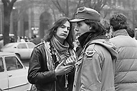 - Milan, student demonstration (February 1986)..- Milano, manifestazione studentesca (febbraio 1986)