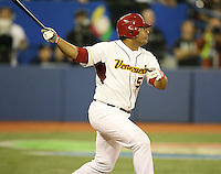 March 8, 2009:  Bobby Abreu (53) of Venezuela during the first round of the World Baseball Classic at the Rogers Centre in Toronto, Ontario, Canada.  Venezuela lost to Team USA 15-6 in both teams second game of the tournament.  Photo by:  Mike Janes/Four Seam Images