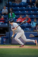 Pawtucket Red Sox second baseman Jantzen Witte (31) bats during a game against the Scranton/Wilkes-Barre RailRiders on May 15, 2017 at PNC Field in Moosic, Pennsylvania.  Scranton defeated Pawtucket 8-4.  (Mike Janes/Four Seam Images)
