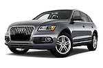 Stock pictures of low aggressive front three quarter view of 2017 Audi Q5 Premium 5 Door SUV Low Aggressive