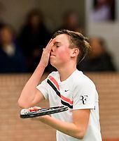 Wateringen, The Netherlands, March 14, 2018,  De Rhijenhof , NOJK 14/18 years, Youp De Kroon ( NED)<br /> Photo: www.tennisimages.com/Henk Koster