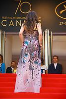 Izia HIGELIN sur le tapis rouge pour la projection du film RODIN lors du soixante-dixième (70ème) Festival du Film à Cannes, Palais des Festivals et des Congres, Cannes, Sud de la France, mercredi 24 mai 2017. Philippe FARJON / VISUAL Press Agency