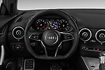 Car pictures of steering wheel view of a 2018 Audi TT-Coupe  2.0T-quattro-S-tronic 2 Door Coupe