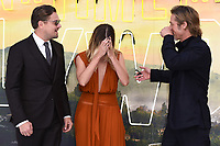 """LONDON, UK. July 30, 2019: Leonardo DiCaprio, Margot Robbie & Brad Pitt at the UK premiere for """"Once Upon A Time In Hollywood"""" in Leicester Square, London.<br /> Picture: Steve Vas/Featureflash"""