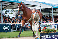 USA-Bruce Davidson Jr presents Jak My Style during the First Horse Inspection. 2019 GBR-Land Rover Burghley Horse Trials. Wednesday 4 September. Copyright Photo: Libby Law Photography