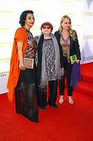 Agnes Varda, photocall d'arrivée pour la cérémonie de remise des prix de la Fondation Positive Planet de Jacques Attal, lors du soixante-dixième (70ème) Festival du Film à Cannes, Palm Beach, Cannes, Sud de la France, mercredi 24 mai 2017.
