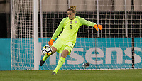 Columbus, Ohio - Thursday March 01, 2018: Alyssa Naeher during a 2018 SheBelieves Cup match between the women's national teams of the United States (USA) and Germany (GER) at MAPFRE Stadium.