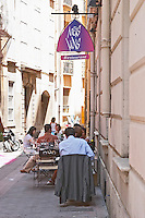 Mets Vins Restaurant. Perpignan, Roussillon, France.