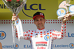 Tim Wellens (BEL) Lotto-Soudal retains the mountains Polka Dot Jersey at the end of Stage 14 of the 2019 Tour de France running 117.5km from Tarbes to Tourmalet Bareges, France. 20th July 2019.<br /> Picture: Colin Flockton | Cyclefile<br /> All photos usage must carry mandatory copyright credit (© Cyclefile | Colin Flockton)